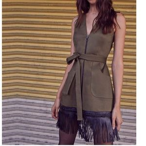 Alexis Lottie Dress Army Green NWT